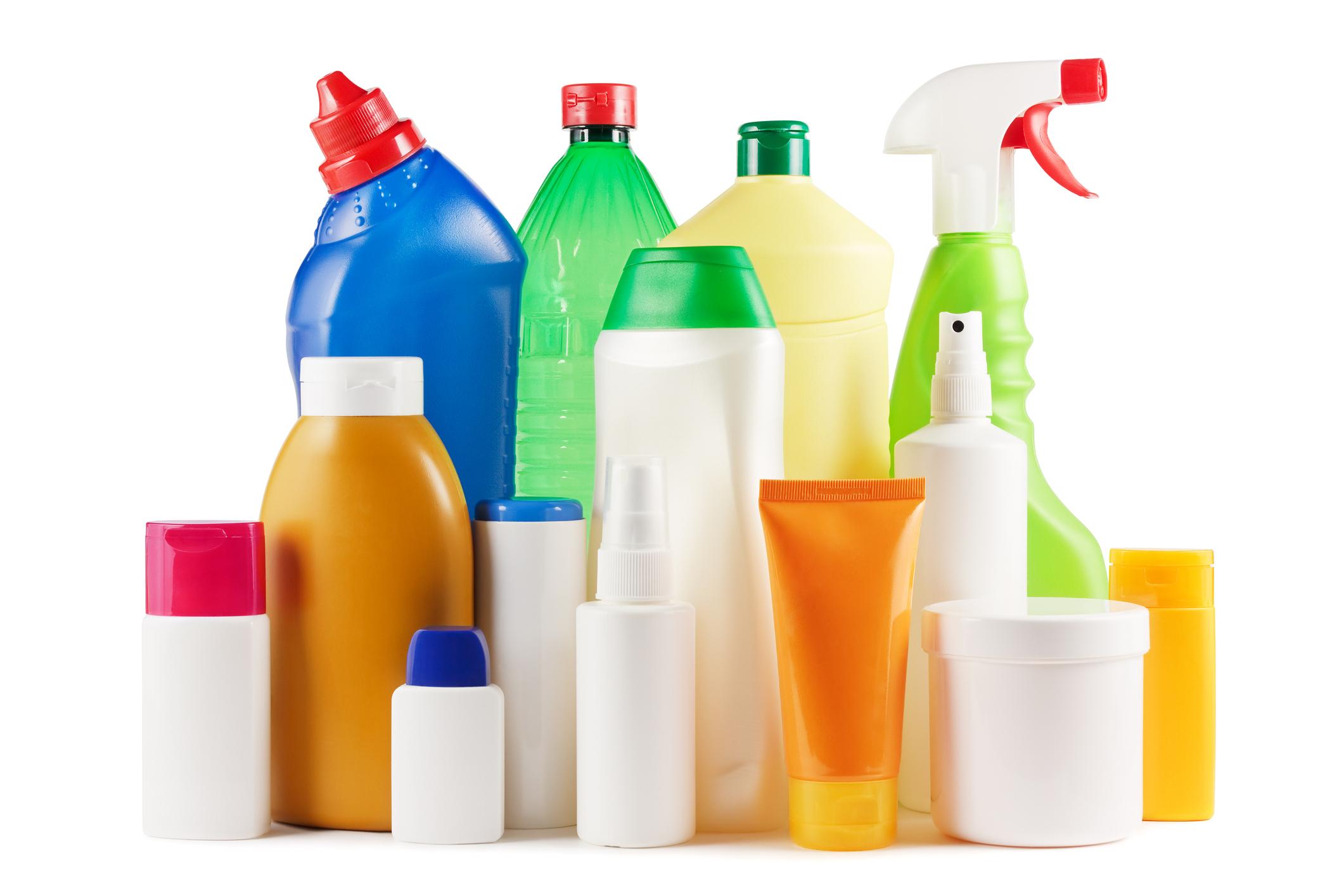 Various PET plastic bottles